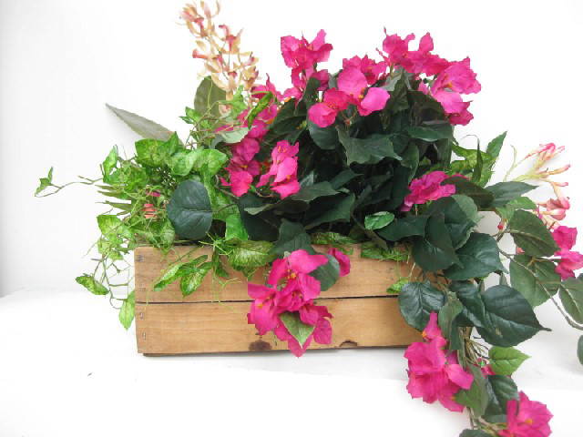 Crate with Tropical Flowers