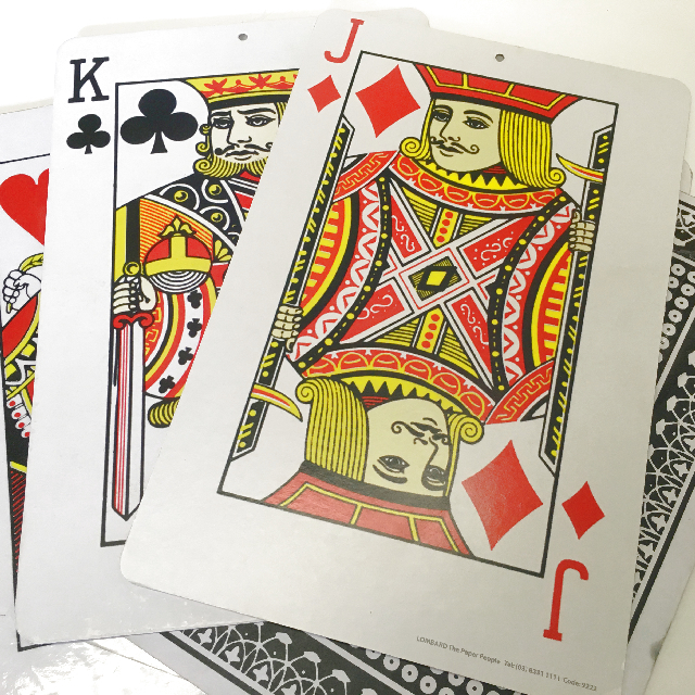 PLA0050 PLAYING CARDS, Oversized 27cm x 42cm H $6.25
