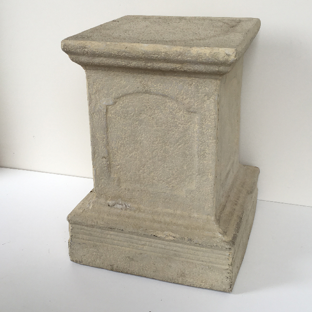 PLI0007 PLINTH, Faux Sandstone 50cm High $30