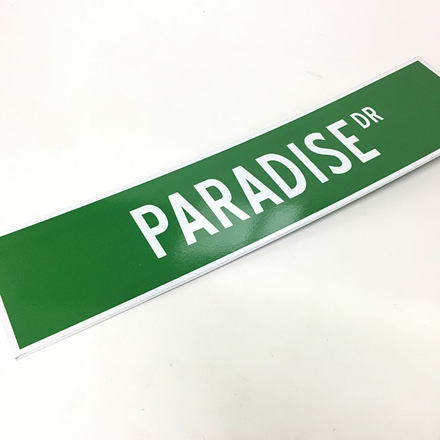 SIG0373 SIGN, Vegas Street Sign - Paradise Drive $12.50