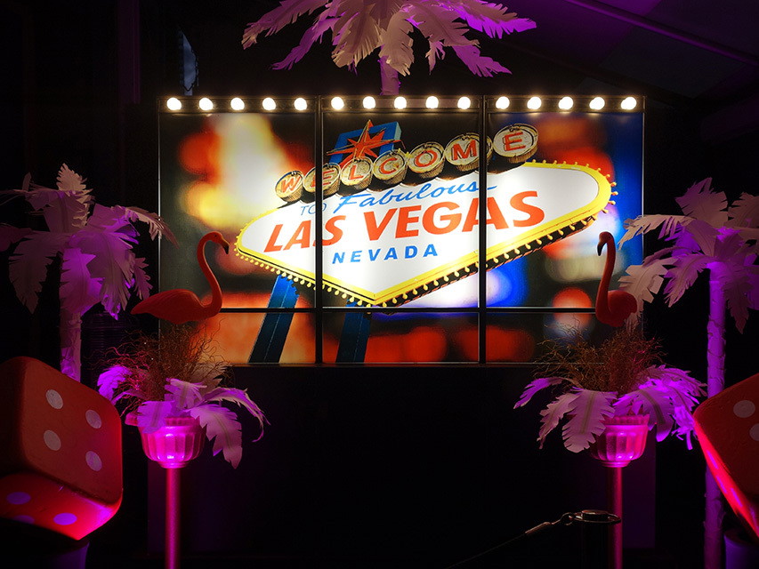 Event Styling - Vegas Signage for Entrance