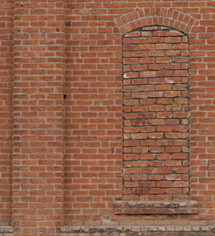 BAC0005 BACKDROP, Old Brick Wall #1 (LHS) 2.4 m x 2.7m $150