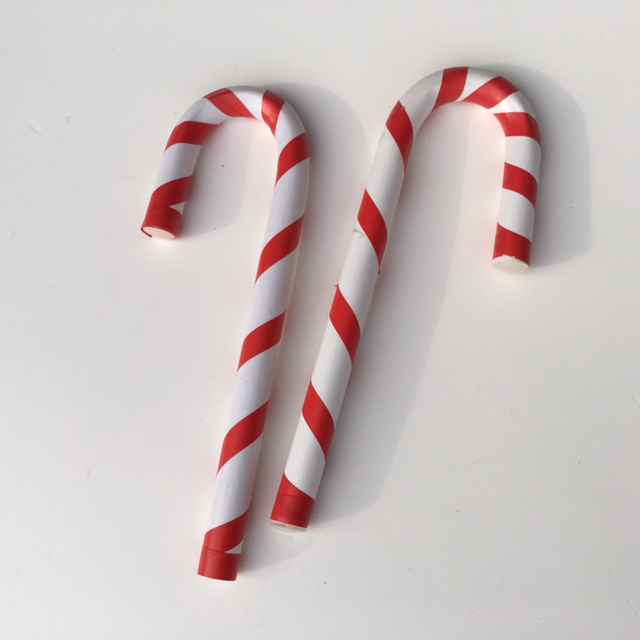 LOL0008 LOLLY, Candy Cane Red & White 30cm H (Hook End) $2.50
