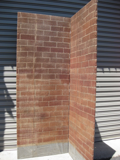SCR0010 SCREEN, Brick Bi-Fold Screen 2.4m x 90cm Panels $45