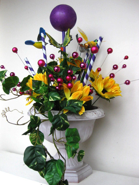 Urn Arrangement - Custom Sunflowers & Lollipops (POA)