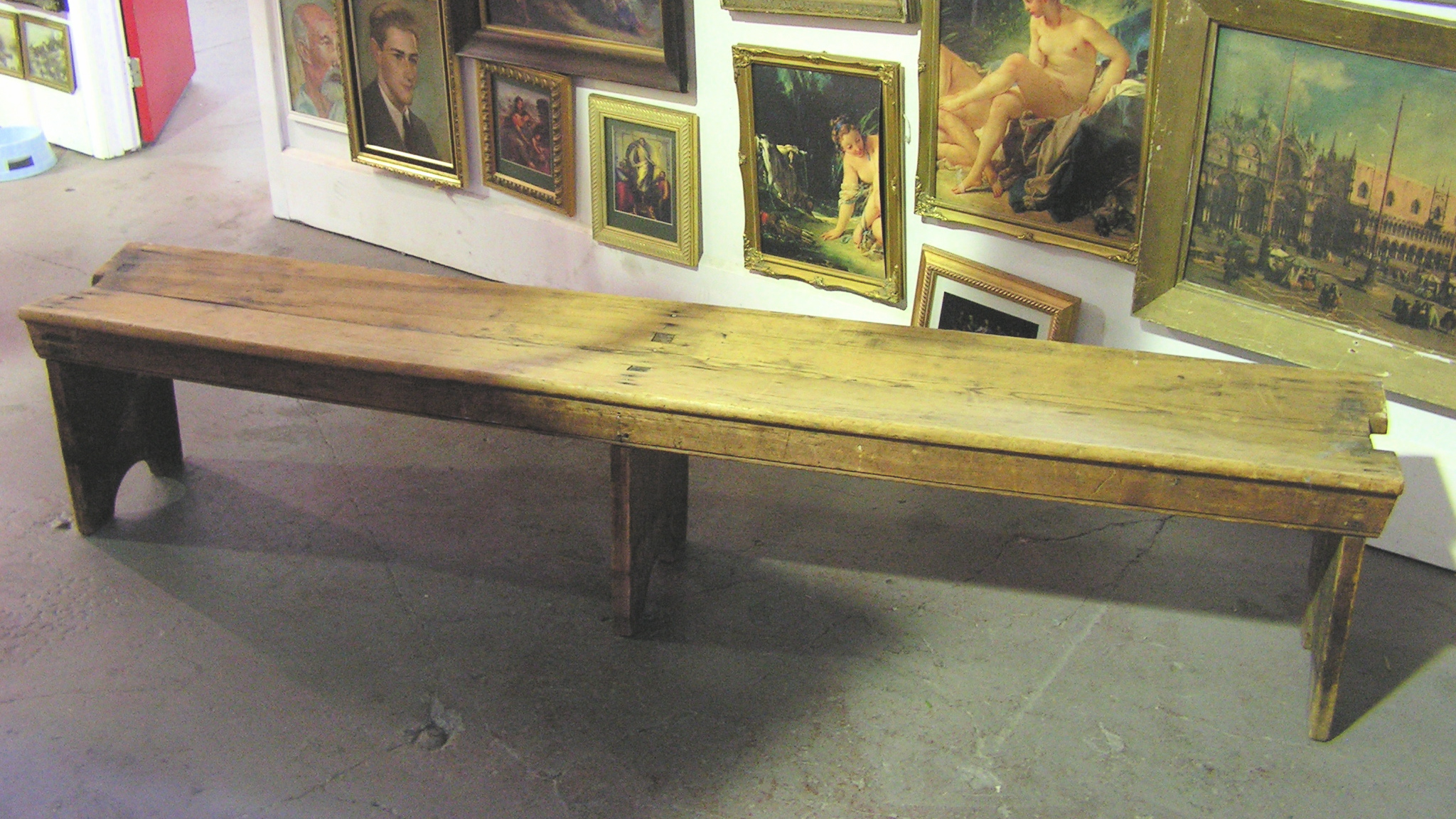 BEN0103 BENCH, Timber - Rustic 2m Long Backless $50