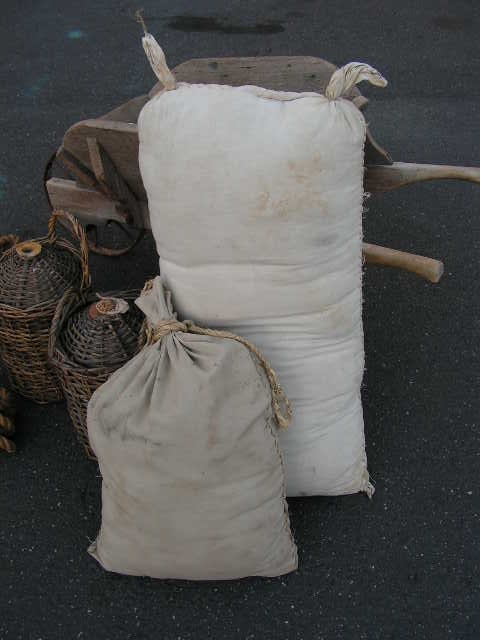 SACK, Cotton - Large (SAC0002) $12.50 & Small (SAC0003) $6.25