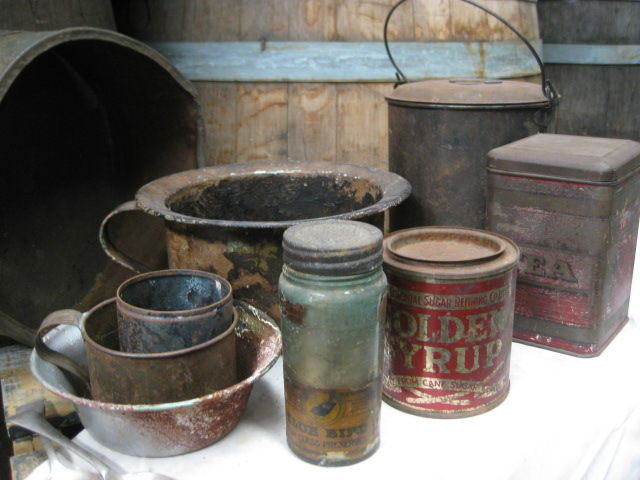 Assorted Old Tins and Cans