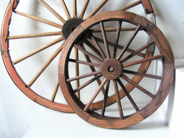 WAGON WHEEL, Medium 80cm Dia (WAG0003) & Small 55cm Dia (WAG0004) $18.75 Each