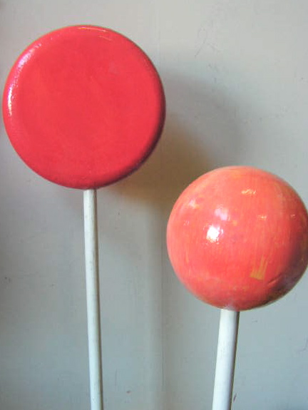 LOL0001 LOLLY, Chuppa Chup 15cm Dia $12.50 & LOL0003 LOLLY, Red Round 25cm Dia $18.75