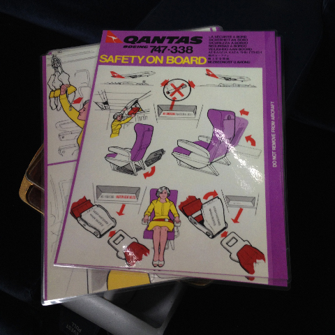AIR0007 AIRLINE SAFETY CARD $2.50