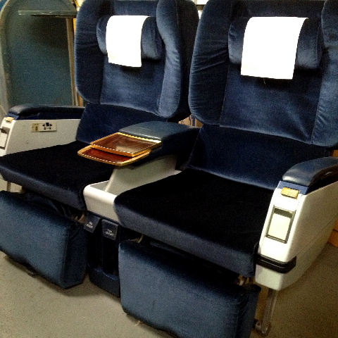 AIR0008 AIRLINE SEAT, Navy velour  $150