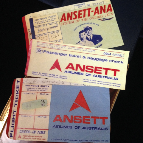AIR0010 AIRLINE TICKET, Ansett 1970s $12.50