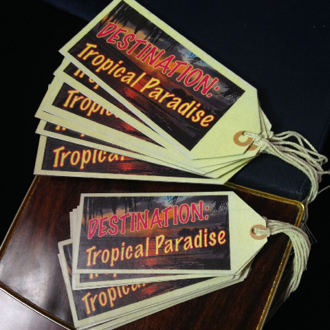 LUG0101 LUGGAGE TAG, Tropical Paradise (generic) $2.50