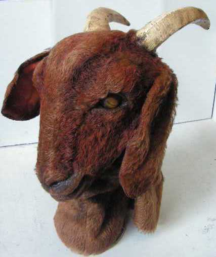 TAX0001 TAXIDERMY, Goat Head Brown - Model/Mask (Not Actually Taxidermy) $87.50