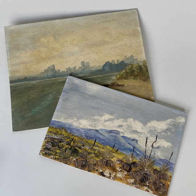 ART0003 ARTWORK, Landscape Painting on Art Board $6.25