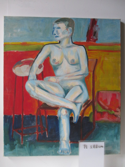 ART0001 ARTWORK, Oil on Canvas Naked Woman 71cm x 83cm $22.50