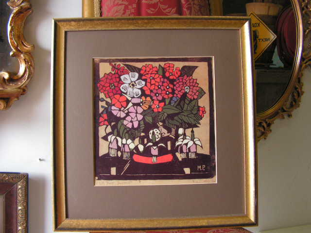 ART0002 ARTWORK, Painting - Floral Margaret Preston $30