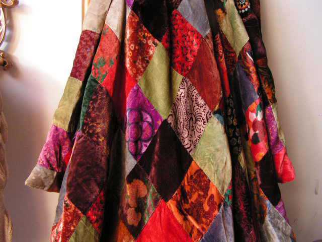BLA0107 BLANKET (Throw), Velvet Vintage Patchwork $25