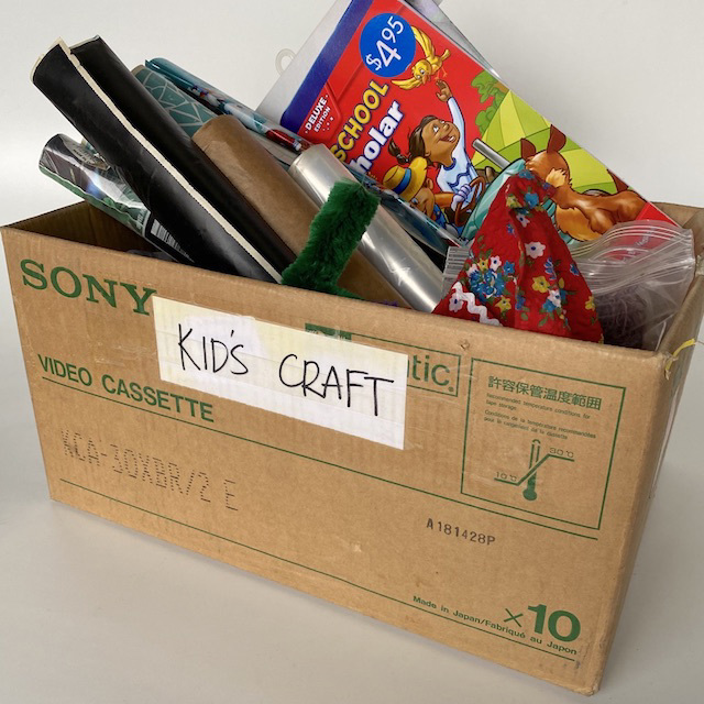CRA0150 CRAFT BOX, Cardboard Box Full $18.75