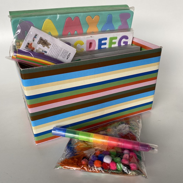 CRA0151 CRAFT BOX, Multicoloured Box Full $18.75