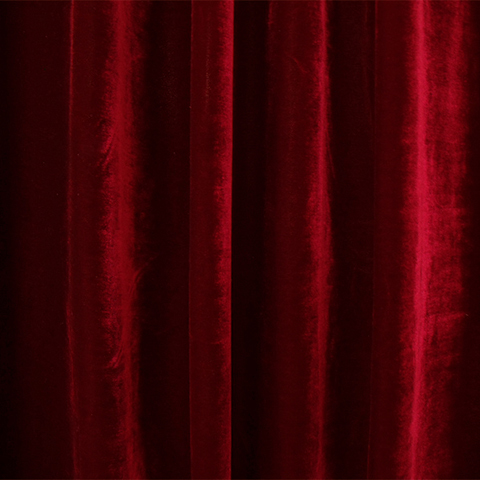 CUR0003 CURTAIN, Red Velvet 3m x 3m drop $50