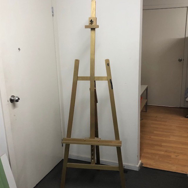 EAS0005 EASEL, Timber Painted Gold 1.9m H $30