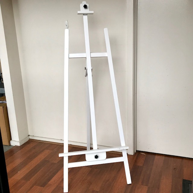 EAS0008 EASEL, Timber Painted White 1.5m High $30
