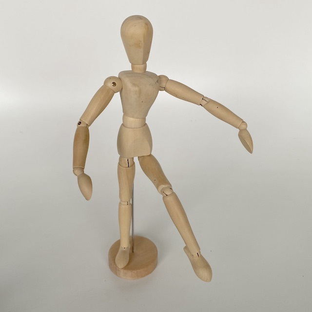 MAN0052 MANNEQUIN, Artist's Wooden Anatomy Model $5
