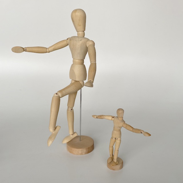 MAN0062 MANNEQUIN, Artist's Wooden Anatomy Model (Ex Small) $3.75