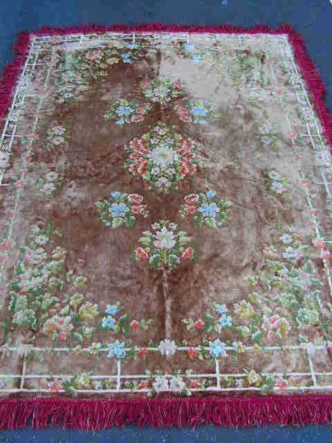 RUG0074 RUG #074, Antique with Fringe 2.1m x 1.5m $30