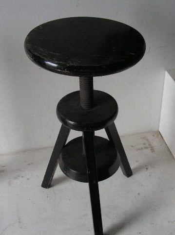 STO0309 STOOL, Swivel - Black (Height Adjustable) $15