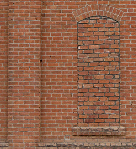 BAC0005 BACKDROP, Old Brick Wall #1 (LHS) 2.4 m x 2.7m $150 (Rigging Additional)