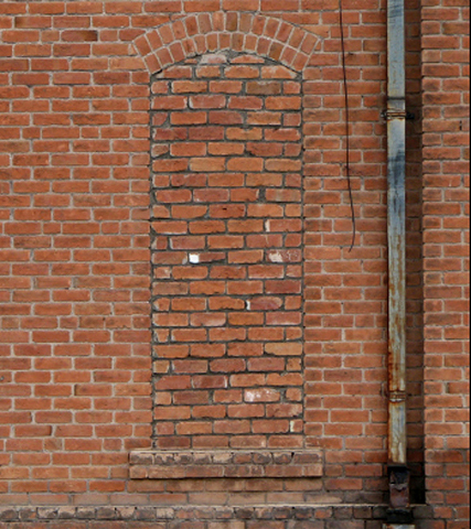 BAC0006 BACKDROP, Old Brick Wall #2 (RHS) 2.4 m x 2.7m $150 (Rigging Additional)