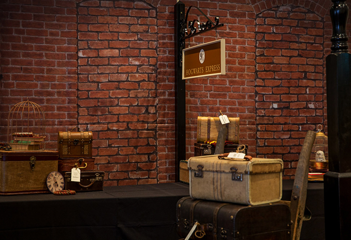 Setup - Hogwarts Express using Brick Wall Backdrop