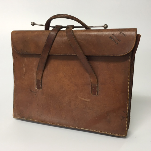 BRI0010 BRIEFCASE, Flap Over - Brown (HT) $18.75