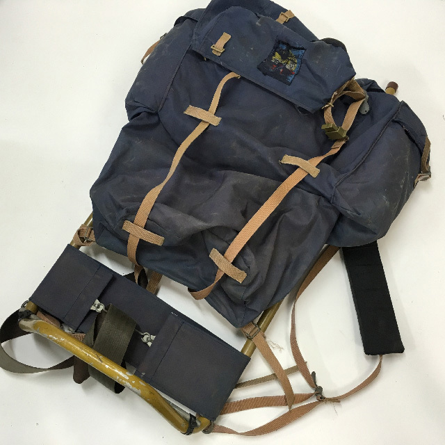 BAC0100 BACKPACK, Army - Navy Blue w Steel Frame $18.75