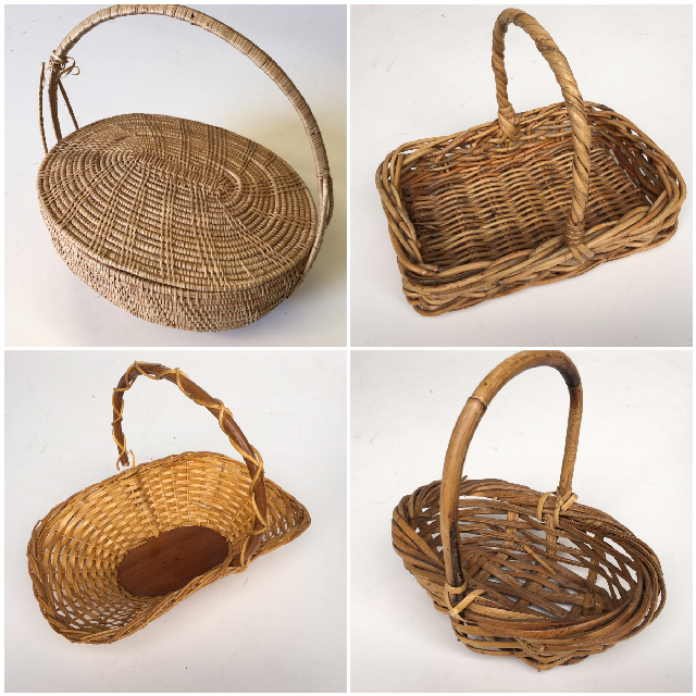 BAS0117 BASKET, Extra Small w Handle $6.25