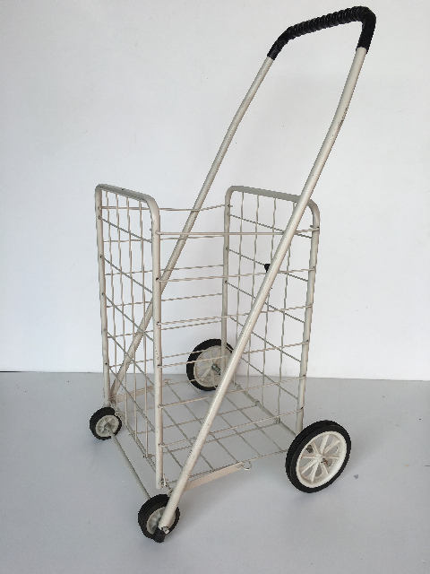 TRO0115 TROLLEY, Shopping Trolley - White Wire $15