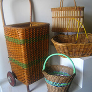 Vintage Shopping Trolley w Vintage Baskets