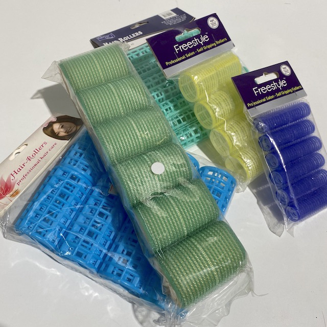 HAI0021 HAIR ROLLER, Assorted Rollers Packaging $3.75