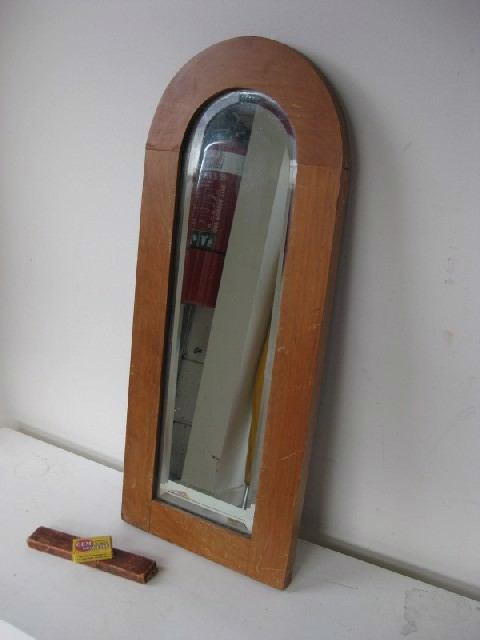 MIR0020 MIRROR, Small Narrow Arched Timber Frame $15