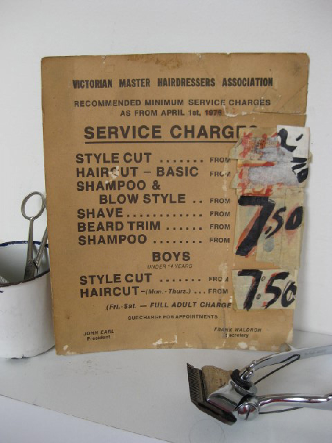 SIG0758 SIGN, Barber Haircut Price List $7.50
