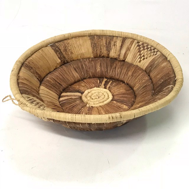 BAS0170 BASKET, Shallow - Small Island Style 24cm $5