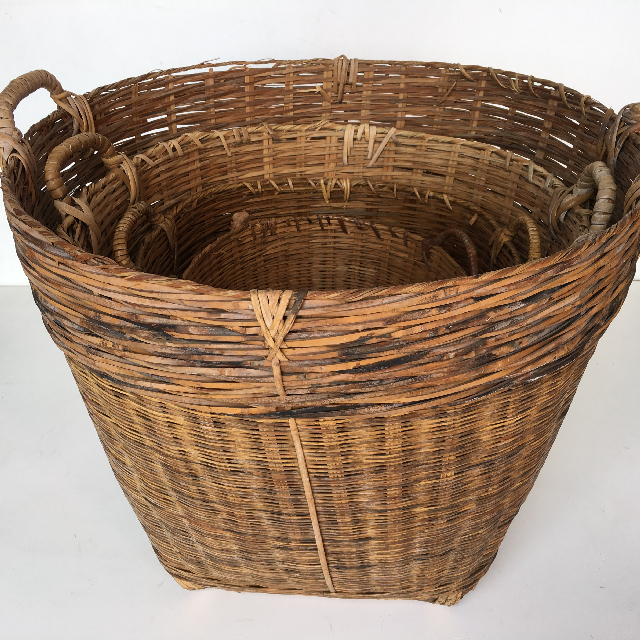 BAS0045 BASKET, Asian Collection (Stack of 3) $42.50