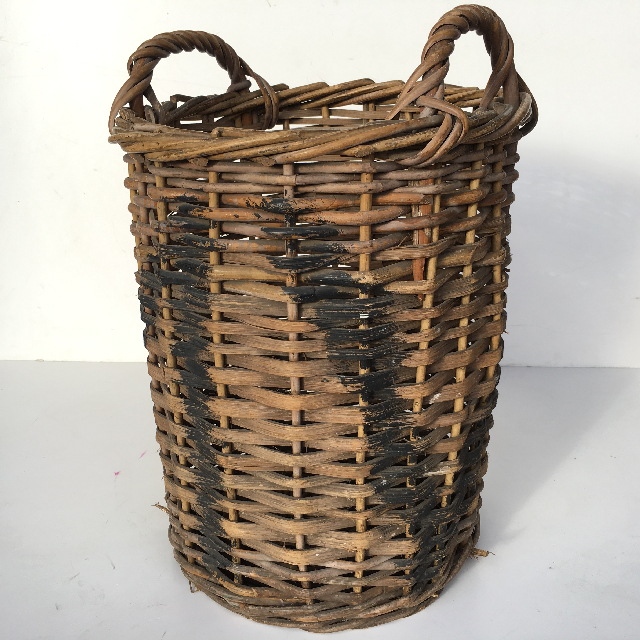 BAS0037 BASKET, Narrow Wicker Tall 45cm H $15