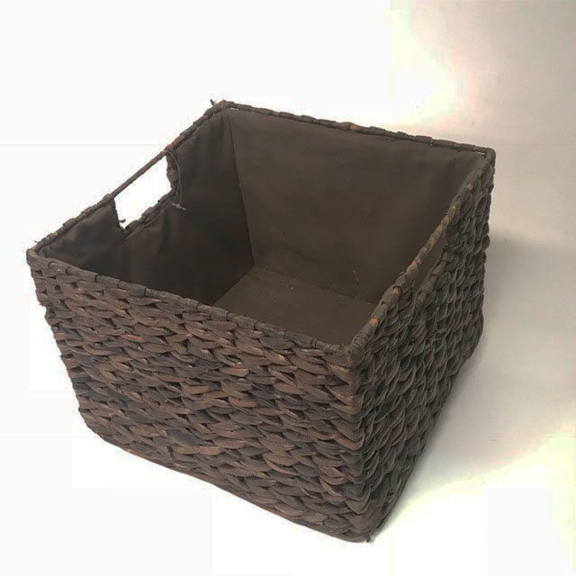 BAS0121 BASKET, Rectangular Storage Brown 27cm x 27cm x 19cmH $5
