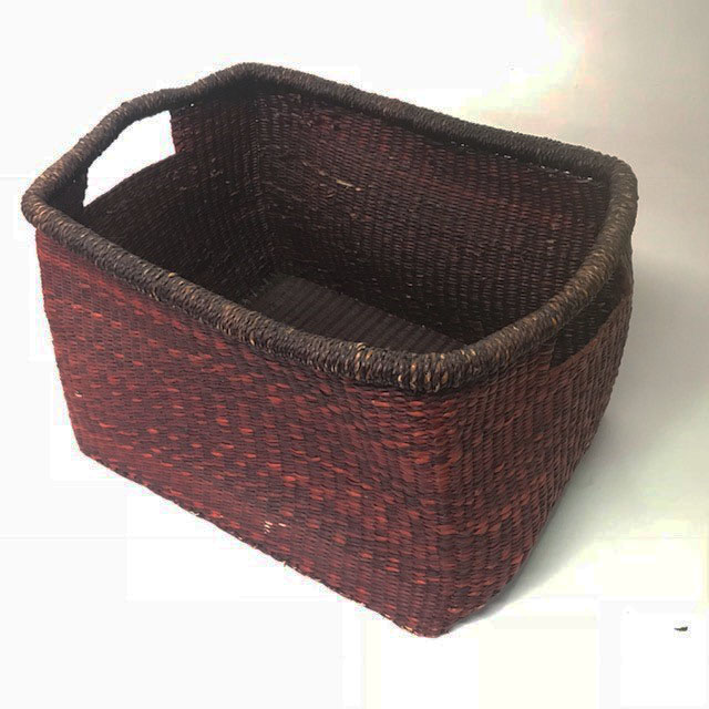 BAS0122 BASKET, Rectangular Storage Reddish Brown 33cm x 27.5cm x 20cmH $6.25
