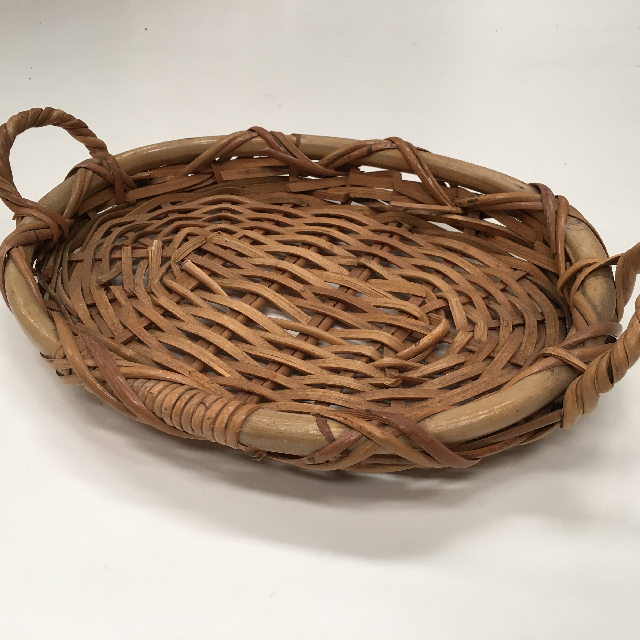 BAS0085 BASKET, Shallow Tray Medium w Handles $7.50