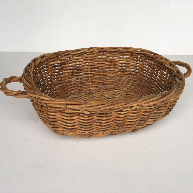 BAS0087 BASKET, Shallow Medium Flat Handles $7.50